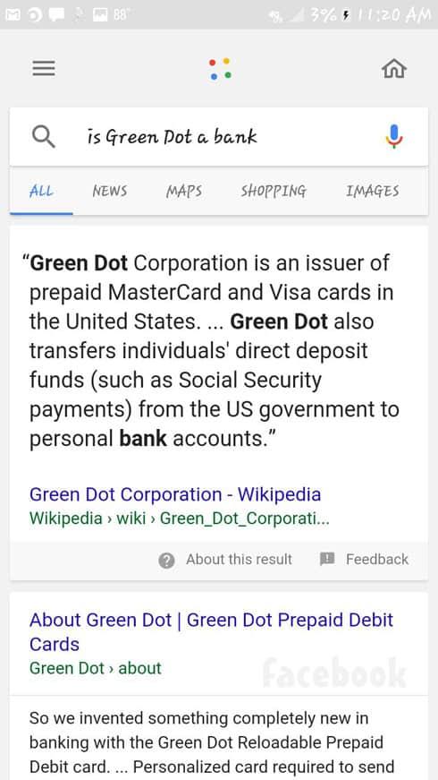 Jeremiah Raber Green Dot credit card search