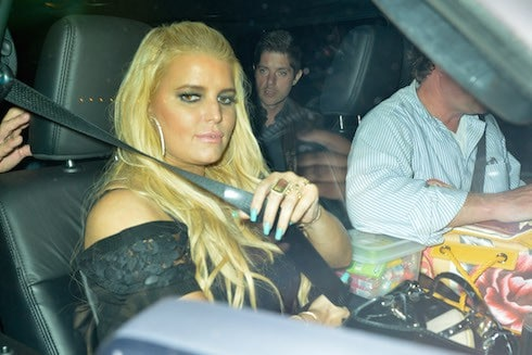 Jessica Simpson celebrates her husband Eric Johnson's 38th birthday at Craig's restaurant