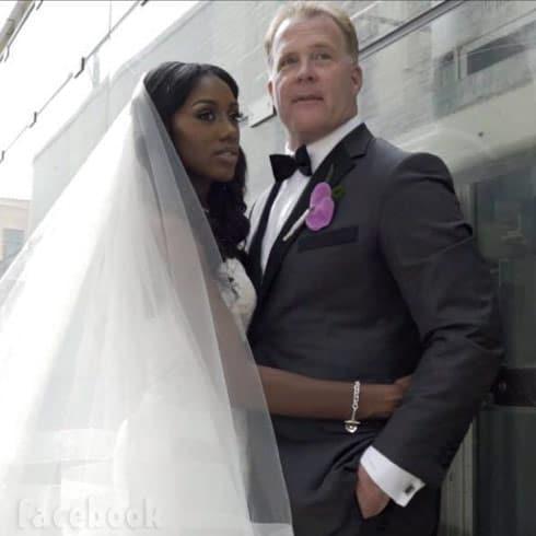 90 Day Fiance Chris and wife Nikki wedding photo
