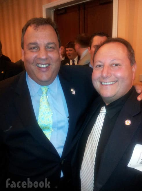 90 Day Fiance David Toborowsky with New Jersey governor Chris Christie