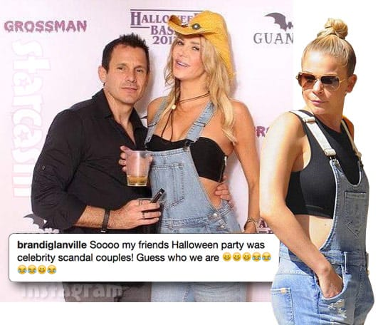 Brandi Glanville wearing a LeAnn Rimes costume Halloween party