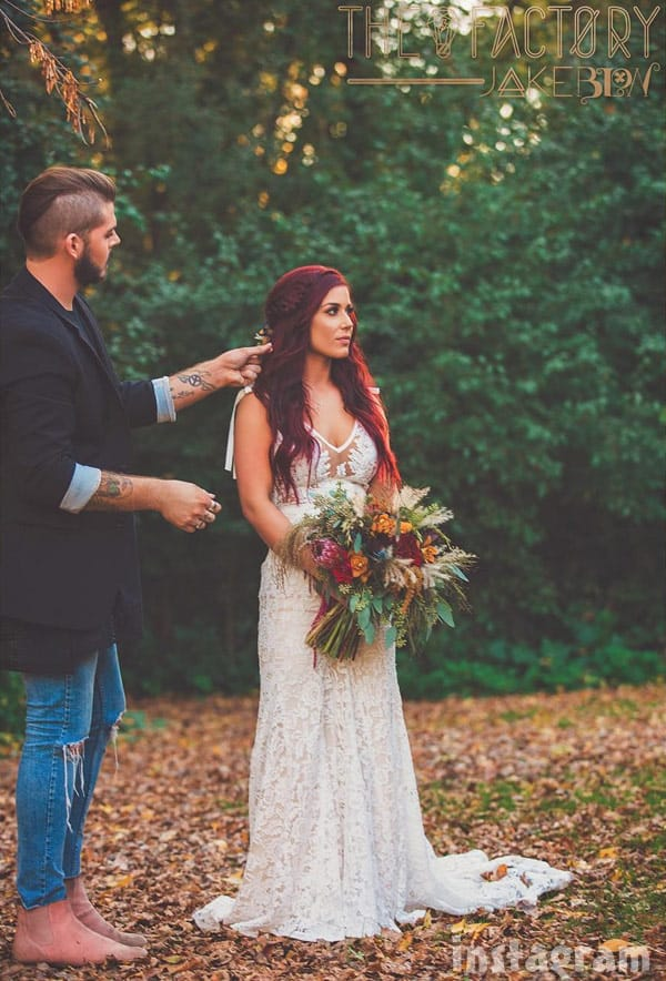Chelsea Houska DeBoer wedding dress and hair