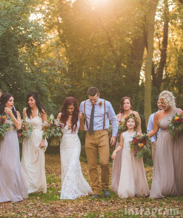 Chelsea Houska DeBoer wedding bridesmaids