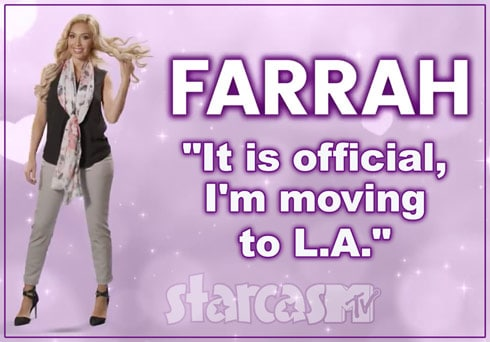 Farrah Abraham Real Housewives tagline moving to LA