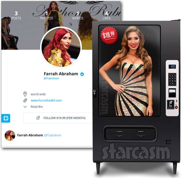 Farrah Abraham vending machine