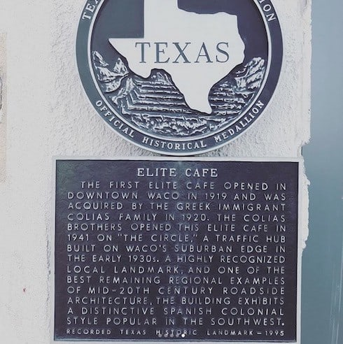Fixer Upper restaurant Elite Cafe plaque