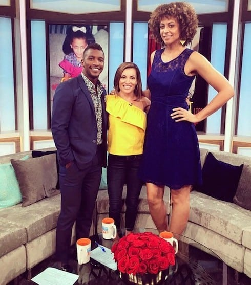 How tall is the My Giant Life cast Alicia Jay