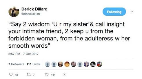 Is Derick Dillard cheating October 7