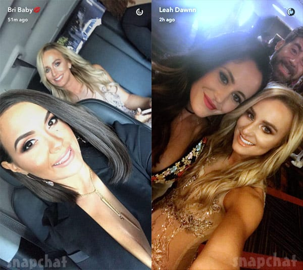 Teen Mom 2 stars Jenelle Evans Eason Briana DeJesus and Leah Messer at the 2017 VMAs