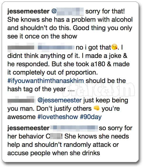 BEFORE THE 90 DAYS Jesse and Darcey break up after her drunk
