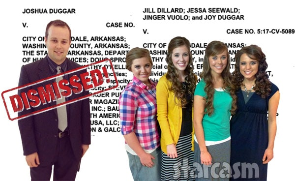 Josh Duggar lawsuit dismissed