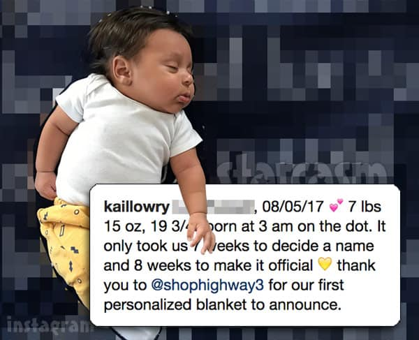 Kail Lowry son Baby Lo name revealed