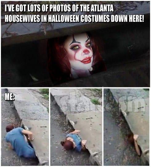 Kandi Burruss Pennywise the Clown It meme sewer