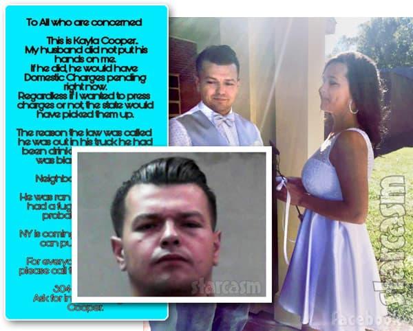 Kayla Cooper's husband Douglas Cooper arrest statement