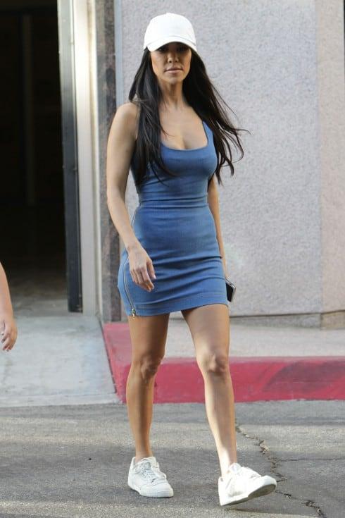 Kourtney Kardashian Leaves Art Class With Mason in LA