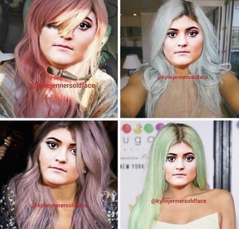Kylie Jenner's old face 4