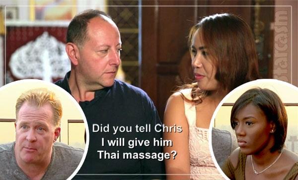90 Day Fiance David Annie Chris Nikki Thai massage scene
