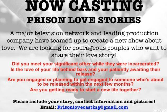Love After Lockup WEtv reality show casting call