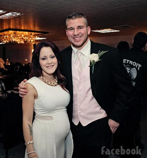 Nathan Griffith Jenelle Evans wedding photo friend