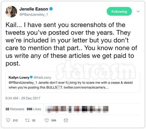 Teen Mom 2 Jenelle Kail Twitter feud 2012 part 2