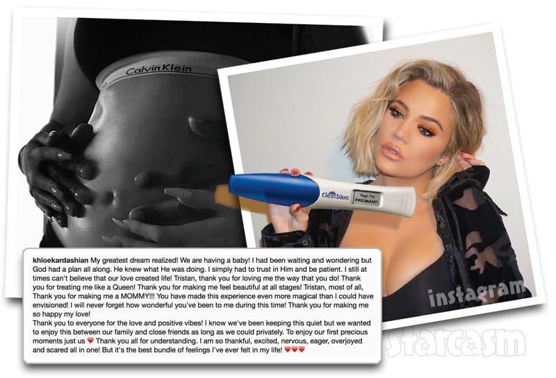 Khloe Kardashian pregnant announcement Instagram