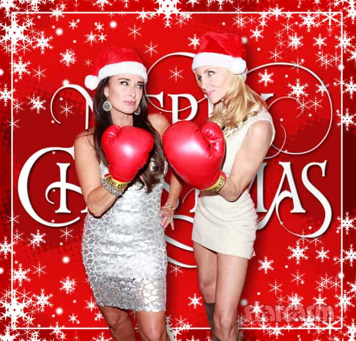 Kyle Richards Camille Grammer Merry Christmas card