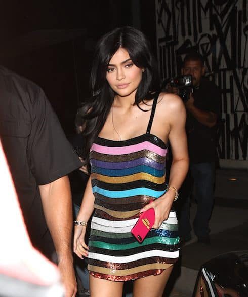Kylie Jenner shows off her beautiful shiny dress as she grabs dinner at Craig's restaurant with her friend Jordyn Woods