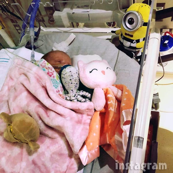 Lindsey Nicholson's premature twin daughter Paisley at 5 pounds