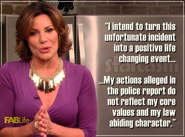 Countess Luann de Lesseps arrest apology