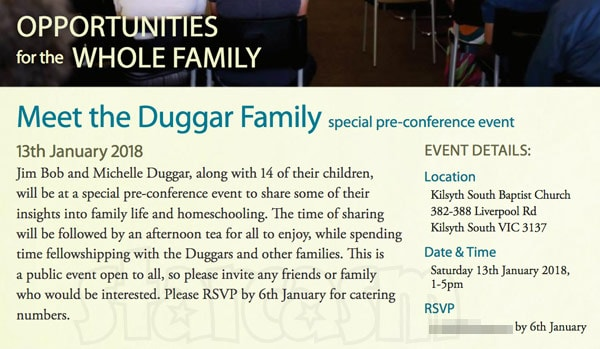 Meet the Duggars in Australia January 2018