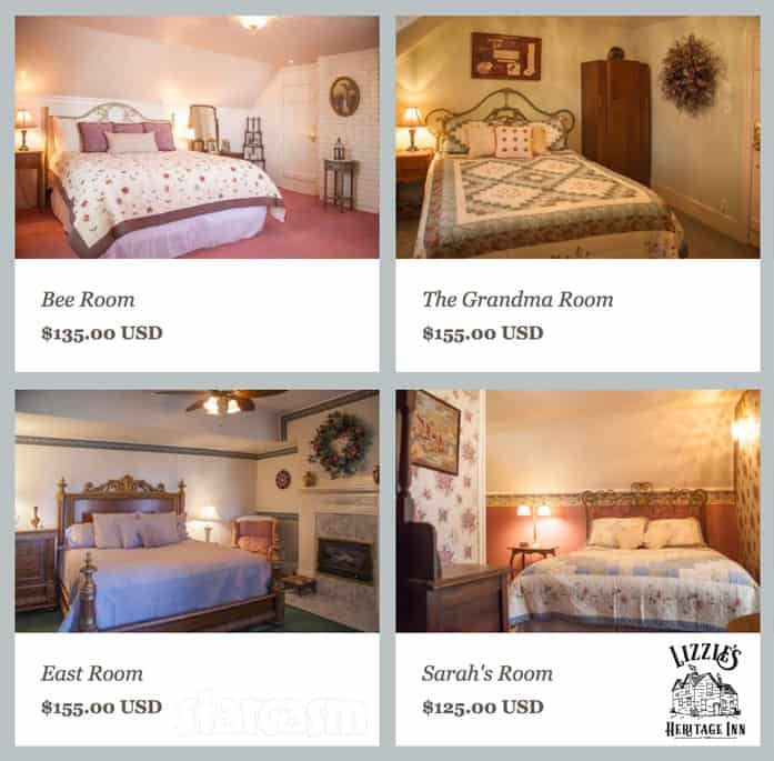 Meri Brown bed and breakfast interior photos