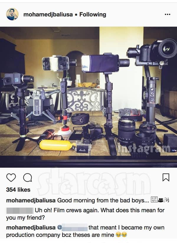Mohamed Jbali Instagram film equipment