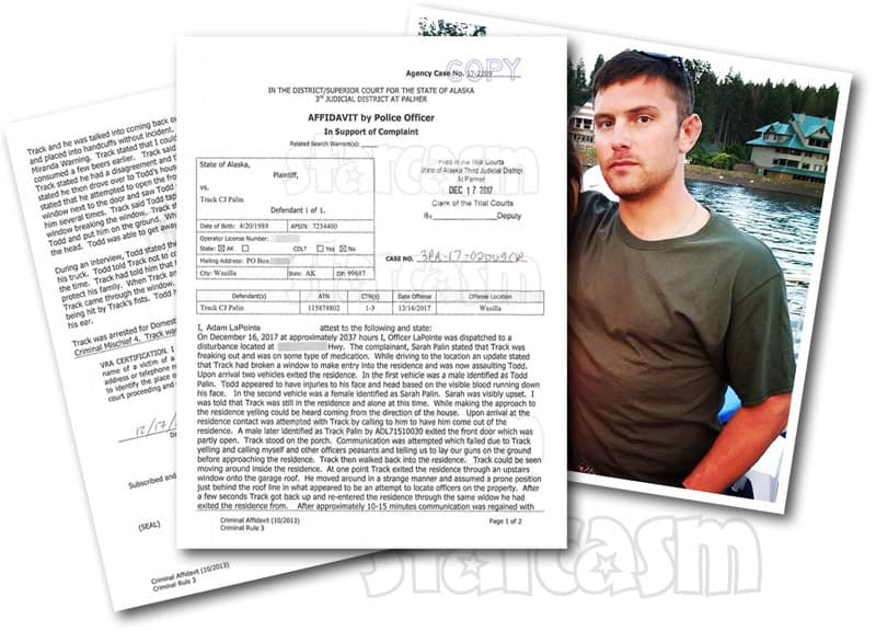 Track Palin arrest police report