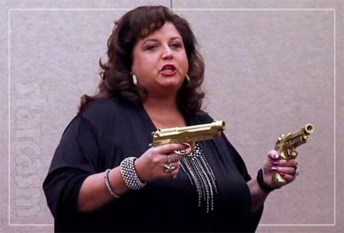 Abby Lee Miller guns