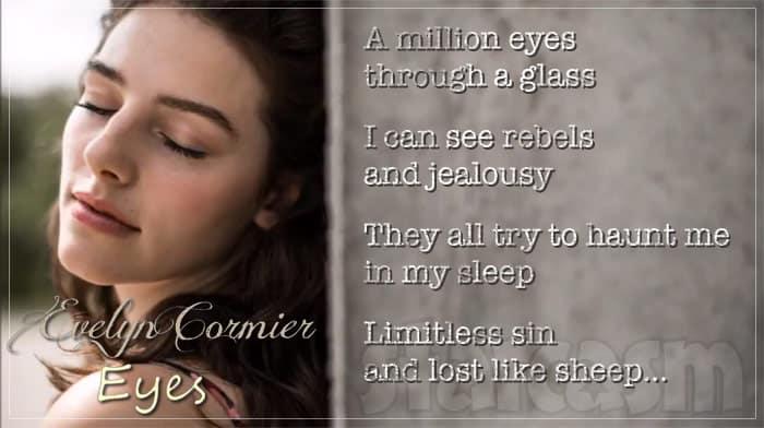 Evelyn Cormier Eyes song lyrics