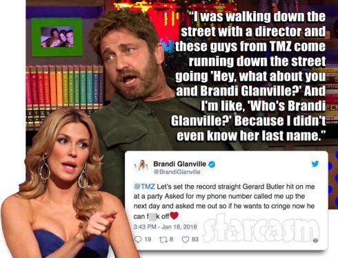 Gerard Butler Brandi Glanville Watch What Happens Live
