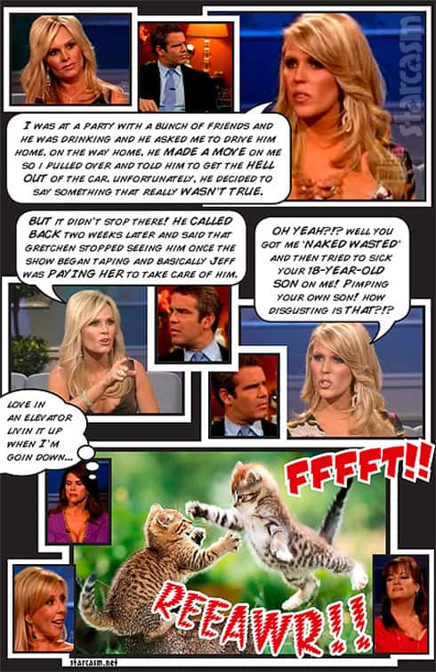 Real Housewives of Orange County Season 4 Reunion recap comic book with Tamra Gretchen and Andy Cohen