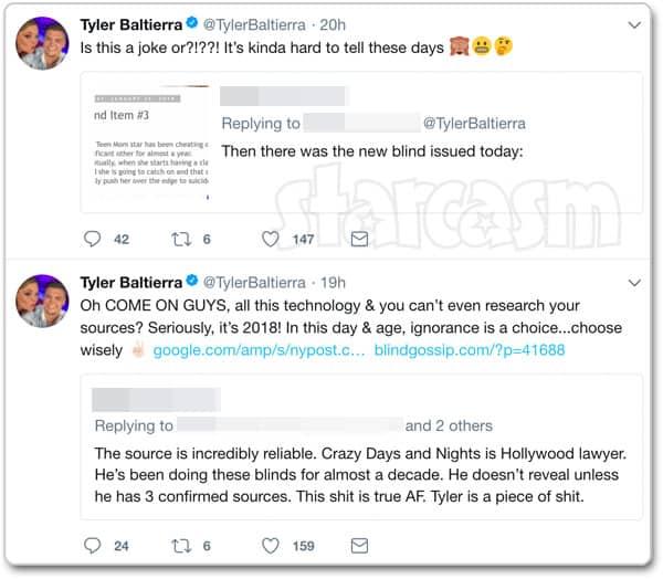 Tyler Baltierra blind item tweets