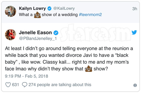 Jenelle and Kail's Twitter fight over Jenelle's sh*t show wedding