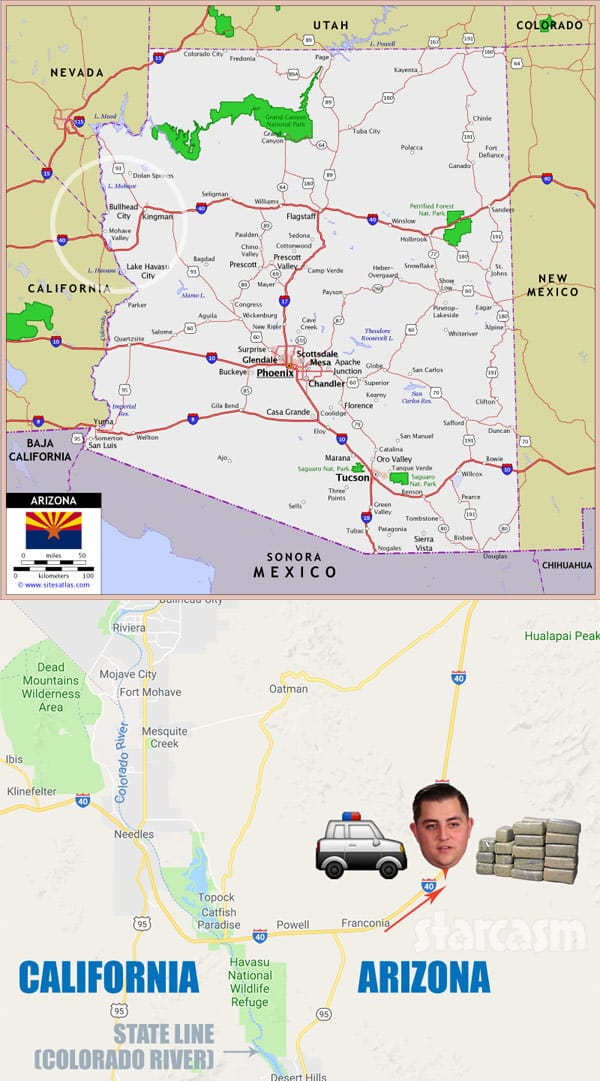 Jorge Nava arrest Arizona map
