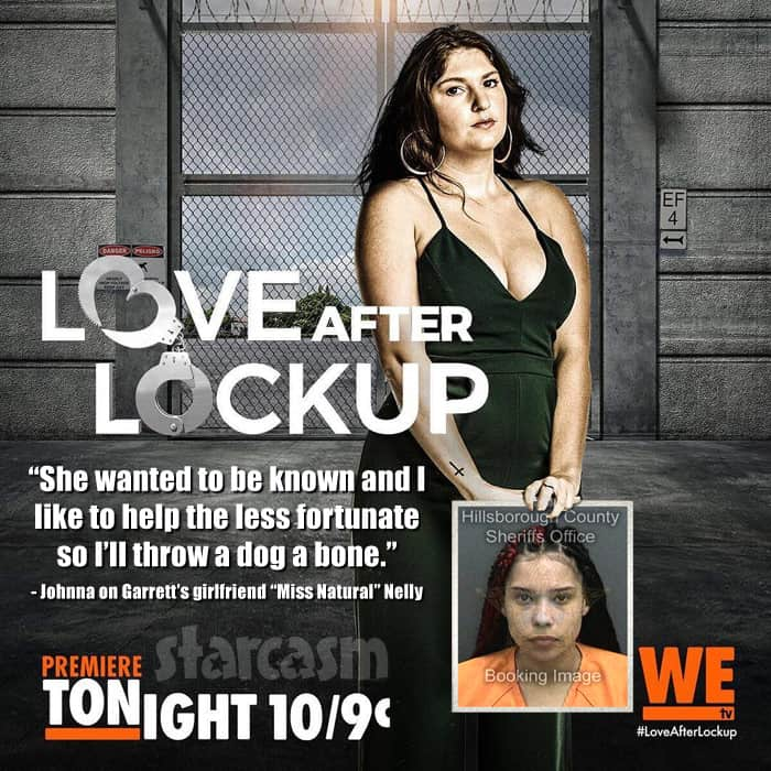 Love After Lockup Johnna posts Garretts girlfriend Nelly's mug shot photo