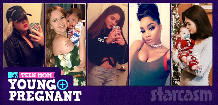 Teen Mom Young and Pregnant cast full names bios social media links