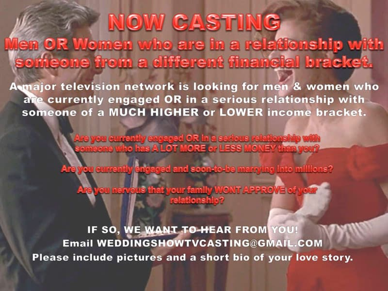 90 Day Fiance economic class romance show casting call