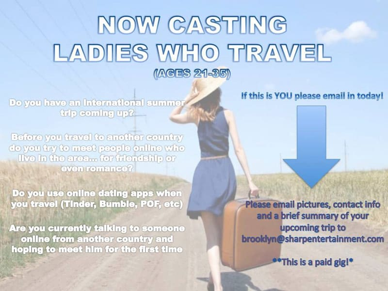 90 Day Fiance show single ladies traveling abroad casting call