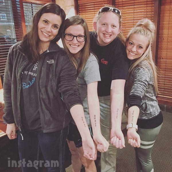 Angie Douthit daughters tattoos