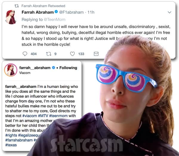 Farrah Abraham reacts to Teen Mom OG firing scene