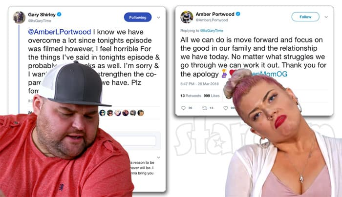 Gary Shirley Twitter apology to Amber Portwood