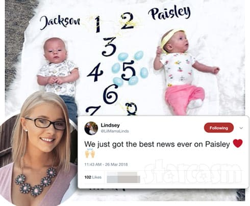 Lindsey Nicholson twins Jackson and Paisley update at five months