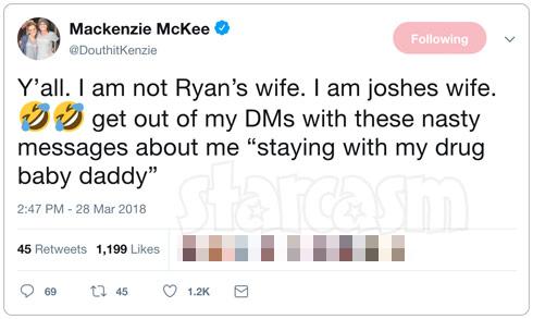 Mackenzie McKee Ryan Edwards tweet