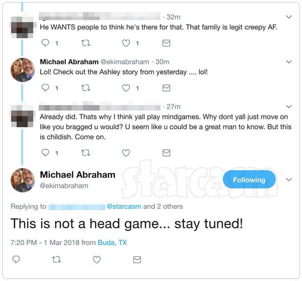 Michael Abraham Teen Mom OG Reunion surprise tweets
